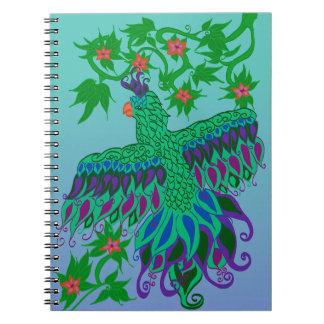 Exotisk papegojaspiralanteckningsbok anteckningsbok