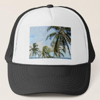 Exotiska palmträd truckerkeps