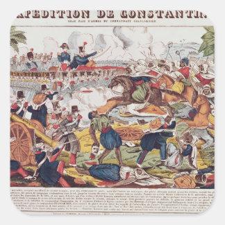 Expedition i Constantine Fyrkantigt Klistermärke