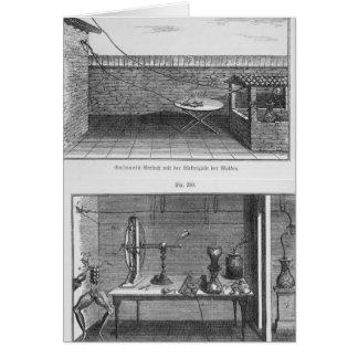 Experiment på grodor av Louis Galvani Hälsningskort