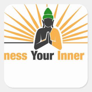 Exploatera din inre Zen Fyrkantigt Klistermärke