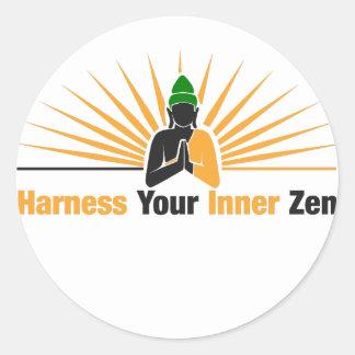 Exploatera din inre Zen Runt Klistermärke