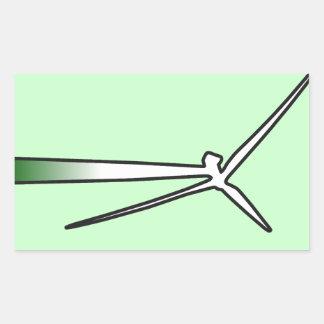 Exploatera vinden rektangulärt klistermärke