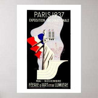 Expo 1937 53 x 73 för vintageart décoParis värld Poster
