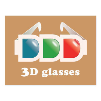 exponeringsglas 3D Vykort