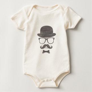 Exponeringsglas för den Hipsterderby moustachen Bodies För Bebisar