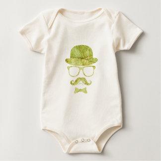 Exponeringsglas för den Hipsterderby moustachen Body För Baby