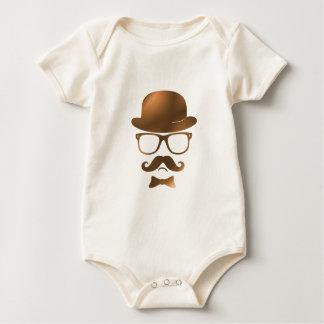 Exponeringsglas för den Hipsterderby moustachen Sparkdräkter
