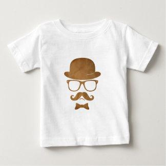 Exponeringsglas för den Hipsterderby moustachen T-shirt