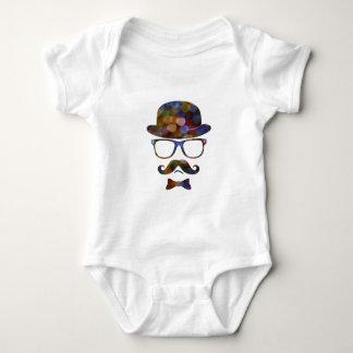 Exponeringsglas för den Hipsterderby moustachen Tee Shirt