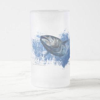 Exponeringsglas för öl för blåttfenatonfisk frostad glas mugg