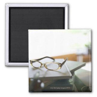 Exponeringsglas på boken magnet