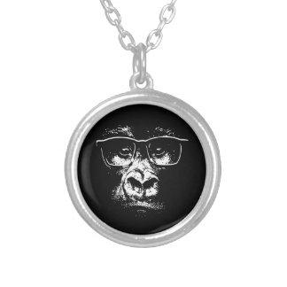 Exponeringsglasgorilla Silverpläterat Halsband