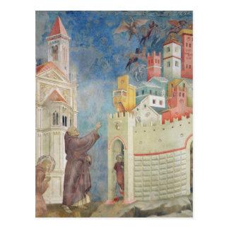 Expulsionen av djävular från Arezzo, 1297-99 Vykort