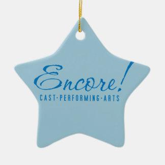 Extranummer! Prydnad 2015 för logotypstjärnajul Julgransprydnad Keramik