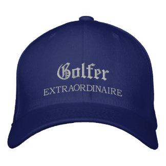 Extraordinaire broderad hatt för golfare