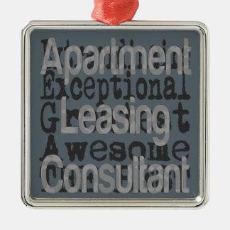 Extraordinaire lägenhetuthyrningkonsulent julgransprydnad metall
