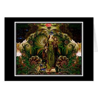 Eyasha gudinna av fred och Tranquility Hälsningskort