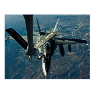 F/A 18 som tankar Vykort