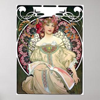 F. Champenois Imprimeur-Éditeur av Alfons Mucha Poster