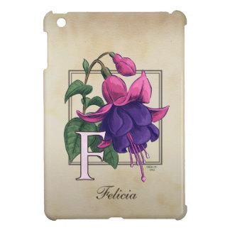F för Fuchsia blommaMonogram iPad Mini Mobil Skal
