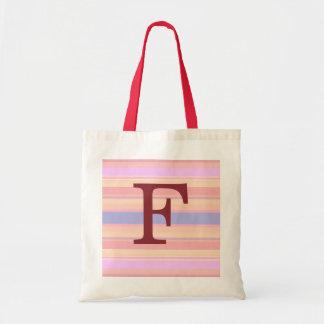 F:: För sommarrandar för Monogram F hänger lös den Tygkasse
