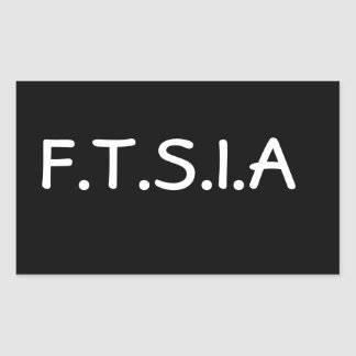 F.T.S.I.A-klistermärke Rektangulärt Klistermärke