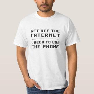 Få av internet som jag behöver att använda t-shirts