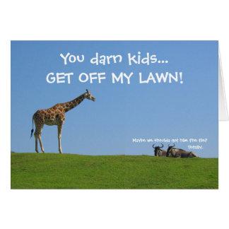 Få av min gräsmatta! Fars dag Hälsningskort