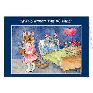 Få det väl kortet med gulliga katter hälsningskort