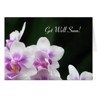 Få det väl snart blom- hälsningkortet hälsningskort
