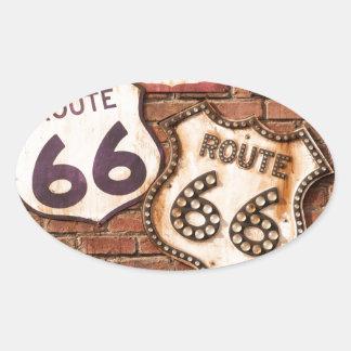 Få din sparkar på rutt 66 ovalt klistermärke