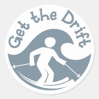 Få drivaklistermärken runt klistermärke