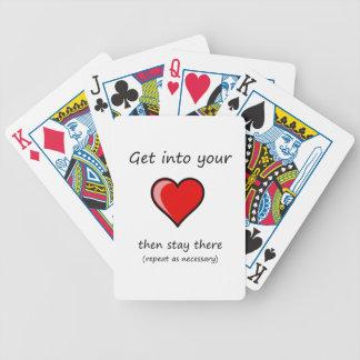 få in i din hjärta, därefter stag där… spelkort