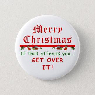 Få över det jul standard knapp rund 5.7 cm