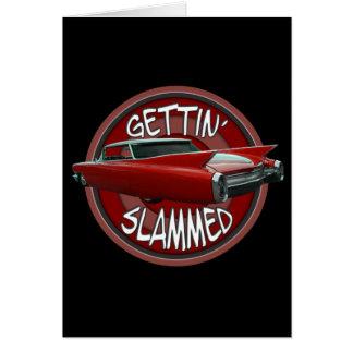 få smällda i Cadillac 1960 Rollin röd svart Hälsningskort