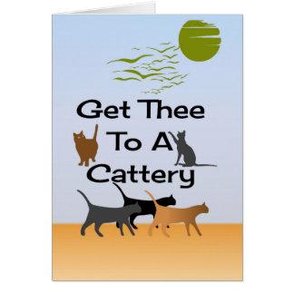 Få Thee till ett Catteryhälsningkort Hälsningskort