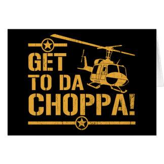 Få till vintage för Da Choppa Hälsningskort