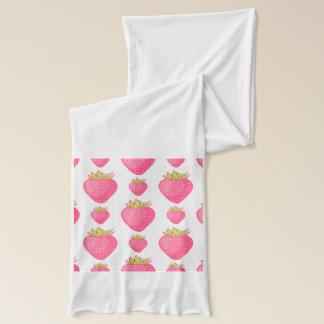 Fab jordgubbetecknaddesign halsduk