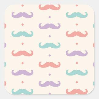 Fab pastellfärgad populär gåva för fyrkantigt klistermärke