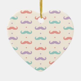 Fab pastellfärgad populär gåva för hjärtformad julgransprydnad i keramik
