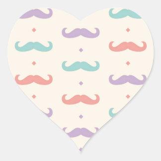 Fab pastellfärgad populär gåva för hjärtformat klistermärke