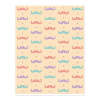 Fab pastellfärgad populär gåva för mustaschMoustac Vykort