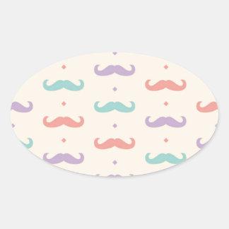 Fab pastellfärgad populär gåva för ovalt klistermärke