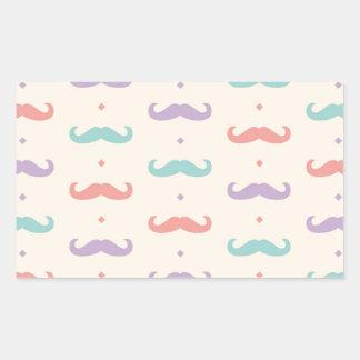 Fab pastellfärgad populär gåva för rektangulärt klistermärke