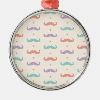Fab pastellfärgad populär gåva för rund silverfärgad julgransprydnad