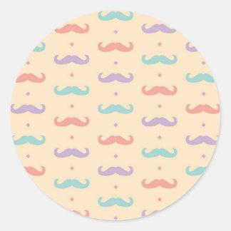 Fab pastellfärgad populär gåva för runt klistermärke