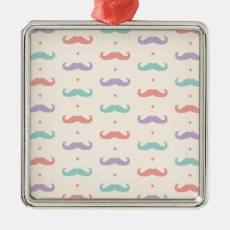 Fab pastellfärgad populär gåva för silverfärgad fyrkantigt julgransprydnad