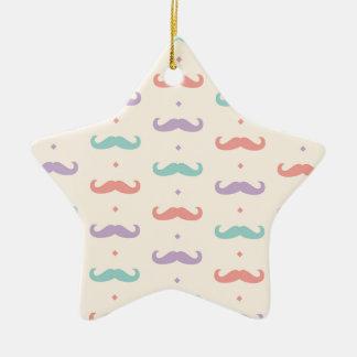 Fab pastellfärgad populär gåva för stjärnformad julgransprydnad i keramik