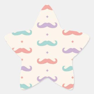 Fab pastellfärgad populär gåva för stjärnformat klistermärke